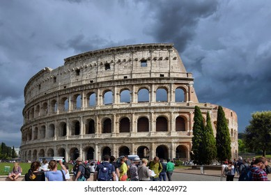 .ITALY, ROMA, 05, MAY, 2016, Colosseum (Coliseum) in Rome, Italy.ITALY, ROMA, 05, MAY, 2016