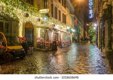 ITALY ROME 01 JANUARY 2018 a view of the Via Mario de Fiori street