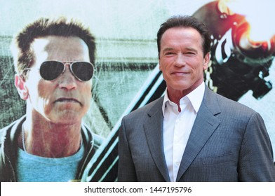 Italy Rome 25/01/2013 Photocall of the movie 'The last stand' with the Actors Arnold Schwarzenegger Jaimie Alexander and Johnny Knoxville