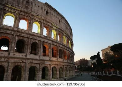 italy rome bird's-eye view background