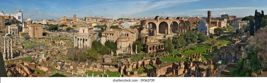 Italy. Rome. Forum Romanum view from the Palatine Hill