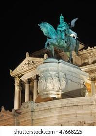 Italy. Rome. Monument of Vittorio Emanuelle II at night ( Altare della patria )