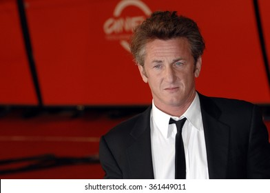 ITALY, ROME - OCTOBER 20, 2007 - Actor and director Sean Penn poses at the red carpet of the 2nd annual Rome Film Festival 2007.