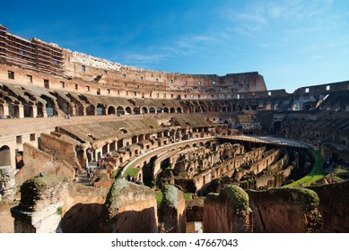 Italy. Rome ( Roma ). Colosseo (Coliseum). Inside view of the theater