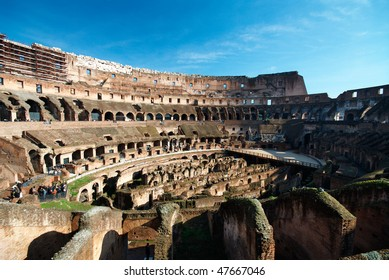 Italy. Rome ( Roma ). Colosseo (Coliseum). Inside view