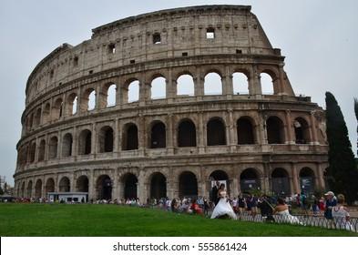 Italy, Rome - September 2015: the Colosseum