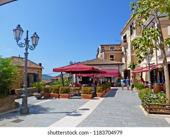 Italy, Salerno, Castellabate, August 2016 glimpse of the characteristic medieval village of Castellabate, located on the Cilento coast in Campania, declared in 1998 a UNESCO World Heritage Site