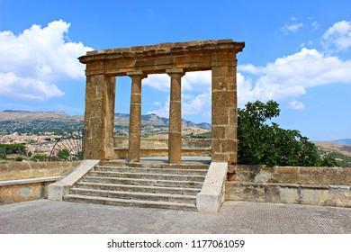 Italy, Sambuca di Sicilia: Panoramic terrace.