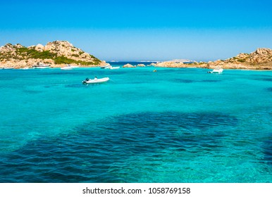 Italy, Sardinia, the sea  of the Maddalena Archipelago