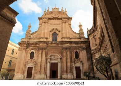 Italy, SE Italy,  province of Bari, region of Apulia, Monopoli. Roman Catholic Cathedral, the Basilica of the Madonna della Madia or Santa Maria della Madia.  Exterior.