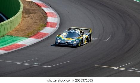 Italy, september 11 2021. Vallelunga classic. 70s endurance prototype race car classic historic competition on asphalt racetrack, Lola T600