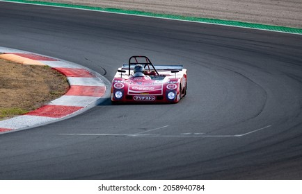 Italy, september 11 2021. Vallelunga classic. 70s endurance prototype race car classic historic competition on asphalt racetrack, Lola T280