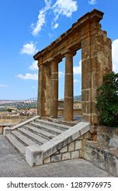 Italy, Sicily, Agrigento: Detail of Ruins in Sambuca.