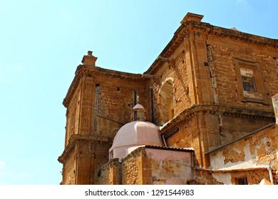 Italy, Sicily: Detail of Mother Church in Sambuca.