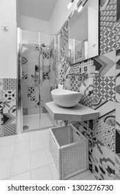 Italy, Sicily, Kaukana (Ragusa Province); 5 June 2018, house bathroom - EDITORIAL