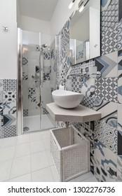 Italy, Sicily, Kaukana (Ragusa Province); 5 June 2018, house bathroom - EDITORIAL
