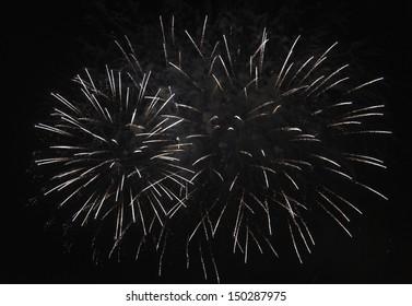 Fourth Of July Ornament Vtg Card Image Girl & Fireworks Glitter