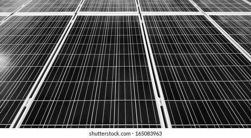 Italy, Sicily, Marina di Ragusa, solar panels