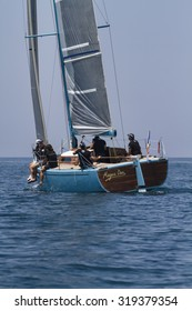 Italy, Sicily, Mediterranean Sea; 30 june 2012, people cruising on a sailing boat - EDITORIAL