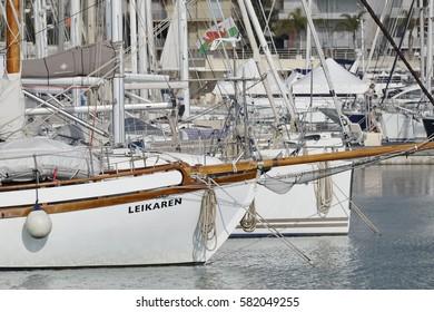 Italy, Sicily, Mediterranean sea, Marina di Ragusa; 15 February 2017, luxury yachts in the port - EDITORIAL