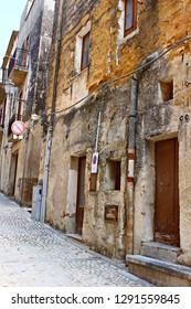 Italy, Sicily: Old street in Sambuca.
