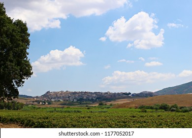 Italy, Sicily: Panoramic of Sambuca.
