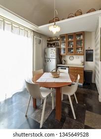 Italy, Sicily, Ragusa; 14 April 2015, elegant private house, kitchen - EDITORIAL