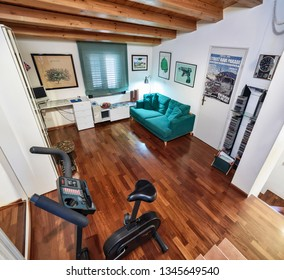 Italy, Sicily, Ragusa; 14 April 2015, elegant private house, living room - EDITORIAL