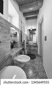Italy, Sicily, Ragusa; 14 April 2015, elegant private house, bathroom - EDITORIAL