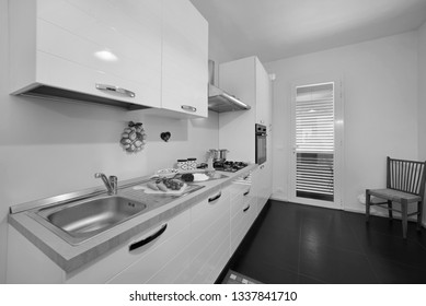 Italy, Sicily, Ragusa Province, countryside; 19 May 2018, elegant private house, view of the kitchen
