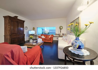 Italy, Sicily, Ragusa Province, countryside; 19 May 2018, elegant private house, living room