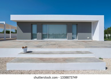 Italy, Sicily, Ragusa Province, countryside; 26 May 2018, elegant private house, view of the facade - EDITORIAL