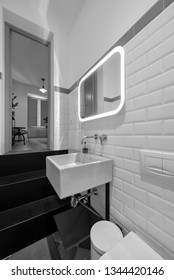 Italy, Sicily, Ragusa Province, countryside; 30 November 2015, elegant private house, bathroom - EDITORIAL