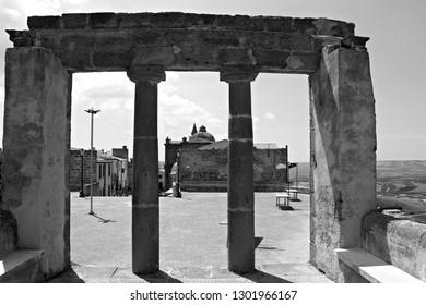 Italy, Sicily, Sambuca: Antique ruins.