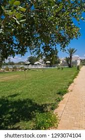 Italy, Sicily, Santacroce Camerina (Ragusa Province), countryside, house garden
