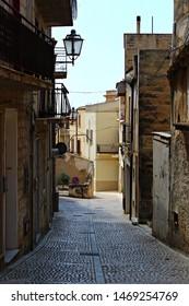 Italy, Sicily: Small street of Sambuca.