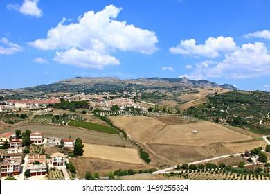 Italy, Sicily: View of Sambuca.
