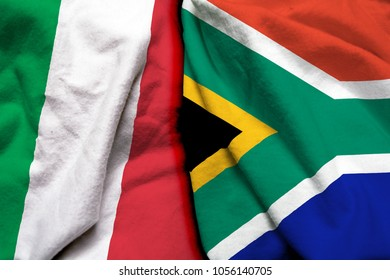 Italy and South Africa flag together