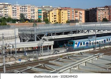 Italy station train
