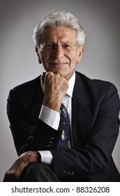 Italy, studio portrait af middle age business man