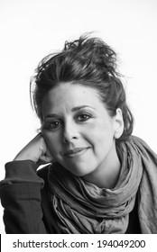Italy, studio portrait of a woman