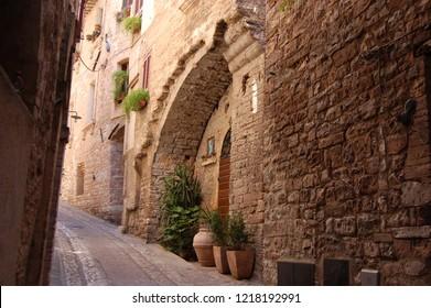 Italy  Toscany Siena street view