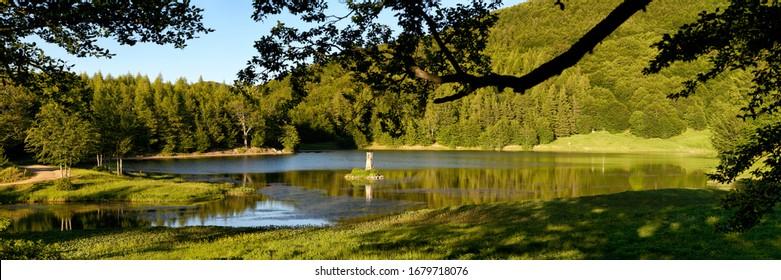 Italy Tosco-Emilian Apennines Calamone Lake UNESCO MAB Biosphere Reserve