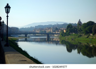 Italy townscape Bridge and river