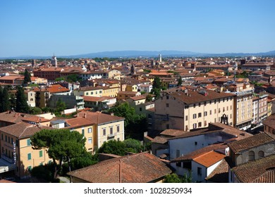 Italy Townscape from the top of the leaning tower in Pisa