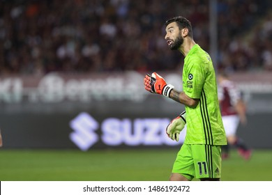 italy, Turin, august 22 2019: Rui Patricio, Wolves goalkeeper, gives advices to teammates in the first half during football match TORINO FC vs WOLVERHAMPTON, Playoff 1leg Europa League, Turin stadium