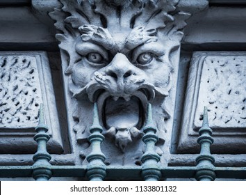 Italy, Turin. This city is famous to be a corner of two global magician triangles. This is a protective mask of stone on the top of a luxury palace entrance, dated around 1800