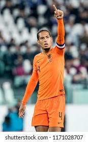 ITALY, TURIN / TORINO - July 4th 2018: Virgil van Dijk (Liverpool) During the international friendly match Netherlands vs Italy at the Allianz Stadium / Juventus Stadium