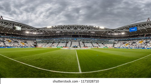 ITALY, TURIN / TORINO - July 4th 2018:  Panorama overview of the Allianz Stadium / Juventus Stadium During the international friendly match Netherlands vs Italy