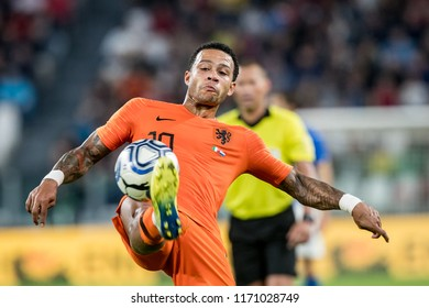 ITALY, TURIN / TORINO - July 4th 2018: Memphis Depay (Olympique Lyonnais) During the international friendly match Netherlands vs Italy at the Allianz Stadium / Juventus Stadium